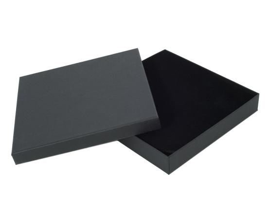 Collieretui Karton 158 x 158 x 25 mm schwarz/matt