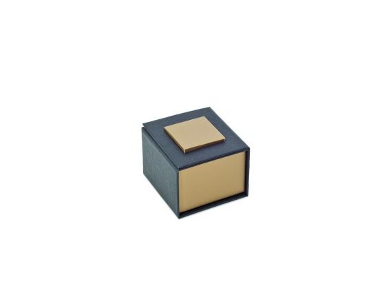 Ringetui schw./silber 50 x 50 x 35 mm