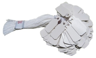 Etiketten Plastik mittel 1-Bund 19 x 8 mm