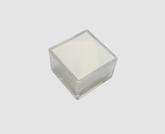 Kunststoffdose transp. 28x28x18 mm weiße Einlage