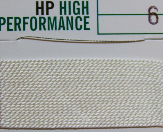 Perlseide High Performance weiß 2 Meter-2 Nadeln