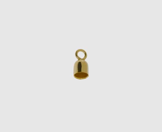 333 Gelbgold Endkapsel kurz 4,5/4,0 mm geschl. Öse