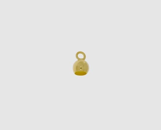 333 Gelbgold Kalotte 5,0 mm kleine Öse, offen 5,0 mm