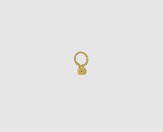 333 Gelbgold Kalotte 3,0 mm große Öse, geschl. 3,0 mm