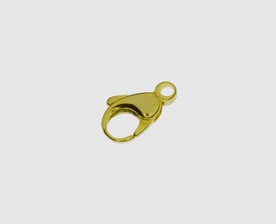 333 Gelbgold Karabiner 13,0 mm gewölbt 13 mm