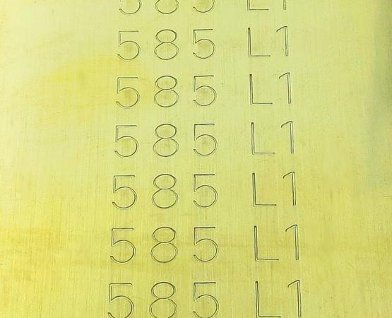 585 Gelbgold Blechlot 1 hart cdf, AT 800 ° Blechlot hart L1