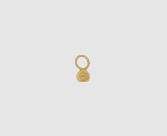 585 Gelbgoldkalotte große Öse geschlossen
