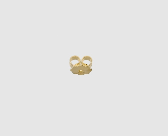 585 Gelbgold Ohrmutter mit Platte gelötet
