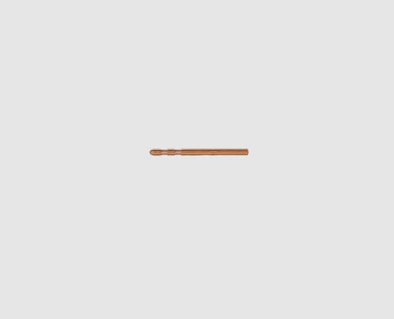 585 Rotgold Ohrsteckerstift 12,0 mm 2 Kerben