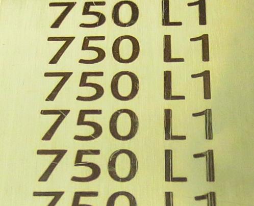 750 Gelbgold Blechlot L1 hart, AT 815 ° Blechlot hart L1
