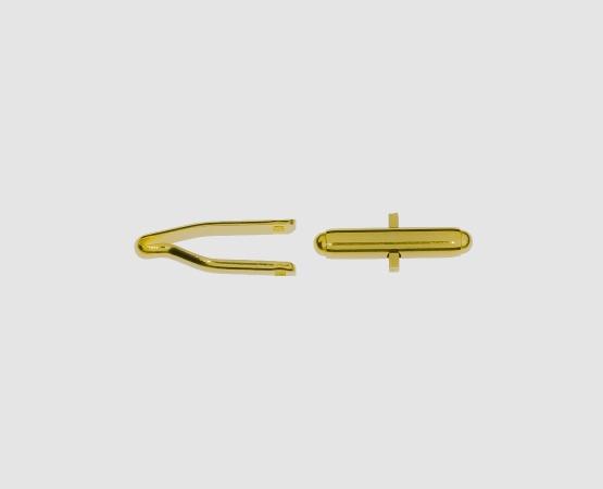 750 Gelbgold Manschettenknopfmechanik
