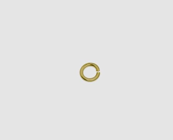 750 Gelbgold Öse rund  5,0 x 0,9 mm