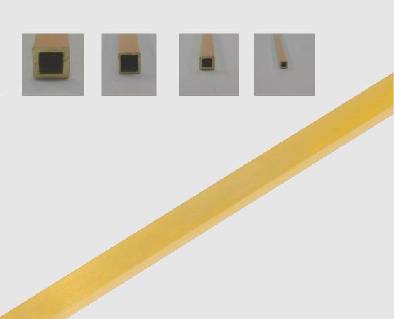 750 Gelbgold  Rohr vierkant
