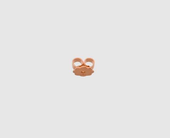 750 Rotgold Ohrmutter mit Platte gelötet