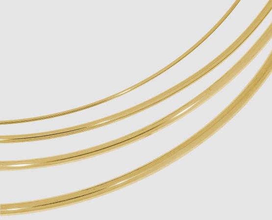 750 Satt-Gelbgold Draht