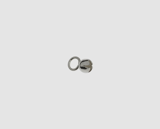 925 Silber Sternkapsel 4,0 mm große Öse