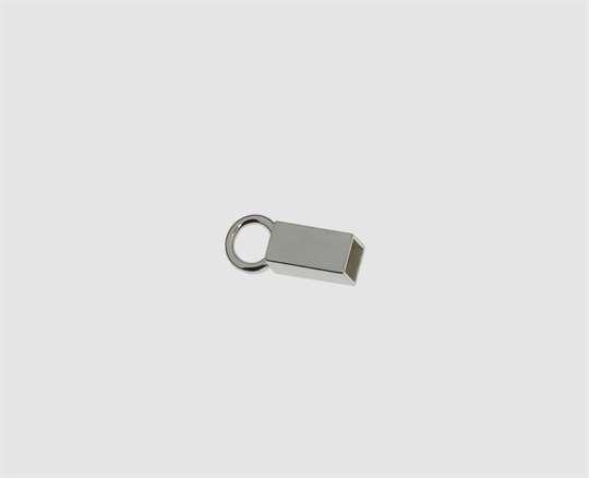 925 Silber Endkapsel quadrat. 3 x3 mm geschl.Öse