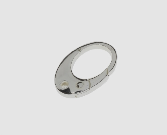 925 Silber Karabiner 12,0 x 18,0 mm oval