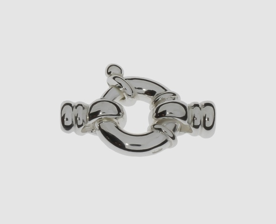 925 Silber Jumbofederring mit Kalotte 13,0 mm
