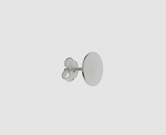 925 Silber Ohrstecker mit Platte 10,0 mm 10,0 mm Platte