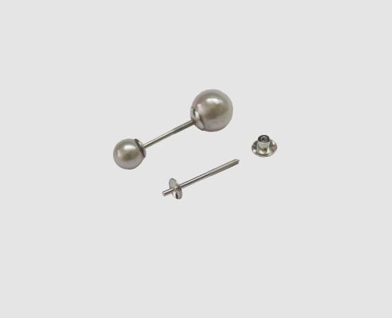 925 Silber Ohrstecker doppelt Schale 3,5 mm glatt