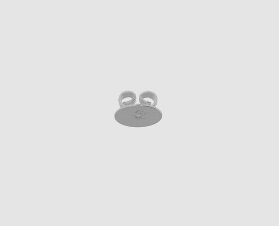 925 Silber Ohrmutter mit gerader Platte gelötet