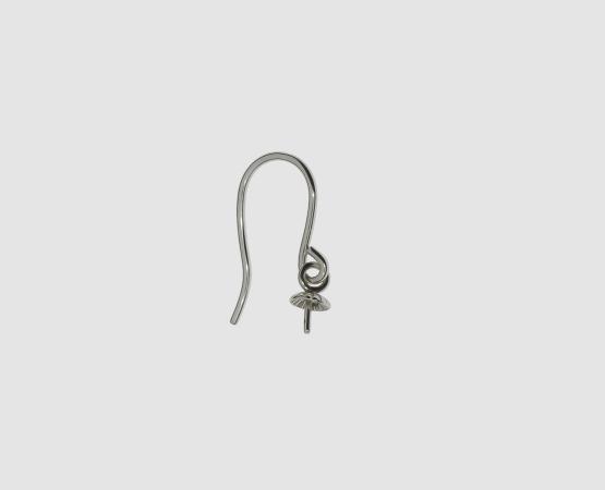 925 Silber Ohrhaken mit Perlschale 4,0 mm hängend