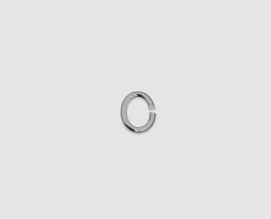 925 Silber Öse oval 7,0 x 1,1 mm - 10 Stück