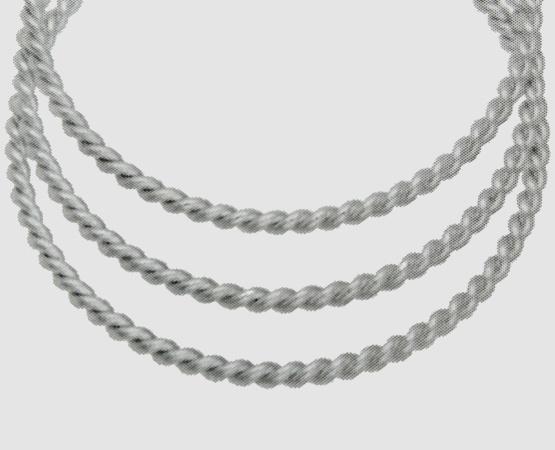 925 Silber Kordeldraht  2,5 mm