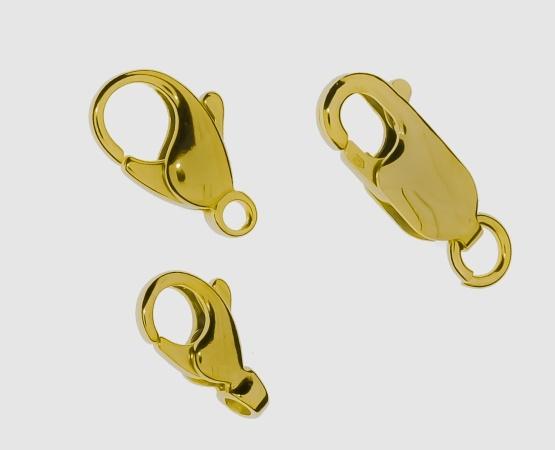 925 Karabiner vergoldet