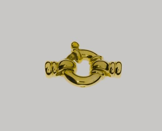 925 Jumbo Federring vergoldet m. Kalotte 13,0 mm 13 mm