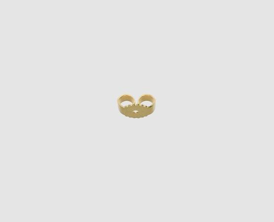 925 Ohrmutter vergoldet gestanzte Platte