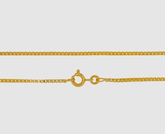 333 Gelbgold Venezianerkette 1,4 mm - 60 cm