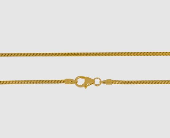 333 Gelbgold Schlangenkette 1,6 mm - 40 cm