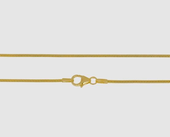 333 Gelbgold Schlangenkette 1,2 mm - 45 cm 1,2 mm