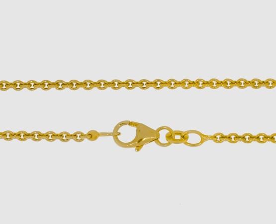 333 Gelbgold Ankerkette rund 2,0 mm - 42 cm