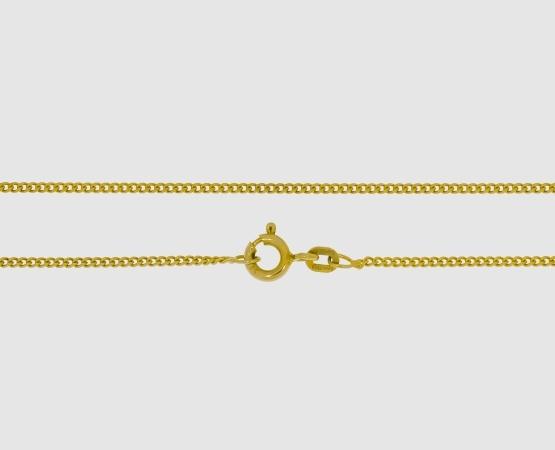 585 Gelbgold Panzerkette diamantiert - Länge 45 cm