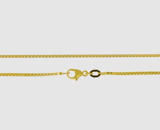 750 Gelbgold Venezianerkette 1,1 mm - 42 cm