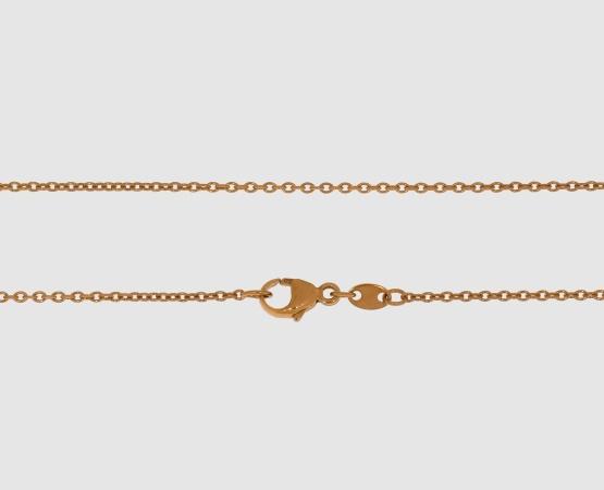750 Rotgold Ankerkette rund 1,3 mm - 45 cm
