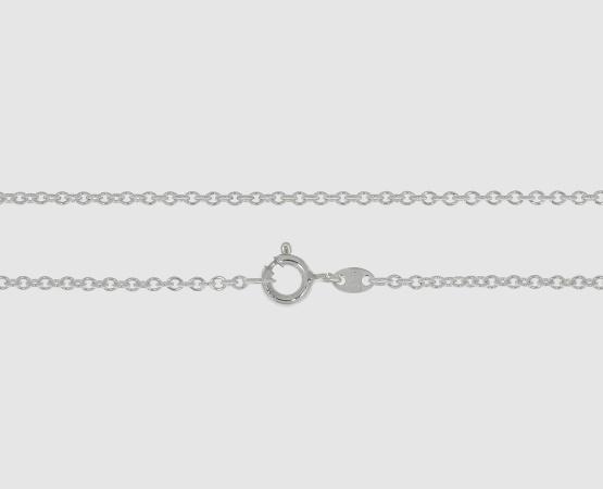 925 Silber Ankerkette rund -  Länge 42 cm