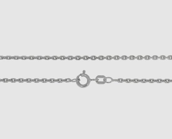 925 Silber Ankerkette diamantiert - Länge 45 cm