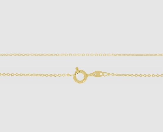 925 Silber Anker weit rd. 1,3 mm - 45 cm vergoldet