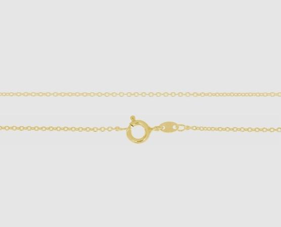 925 Silber Anker weit rd. 1,3 mm - 50 cm vergoldet
