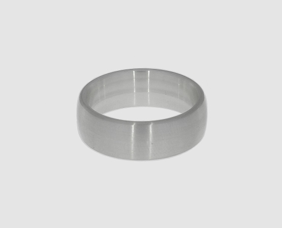 Ringrohling 935 Silber oval 7 x 2 mm