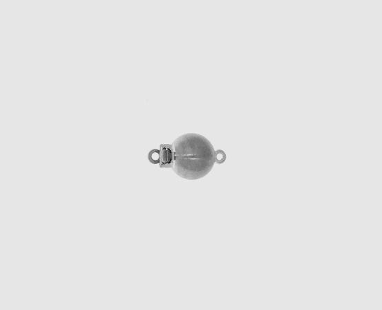 585 Weißgold Kugelschließe matt