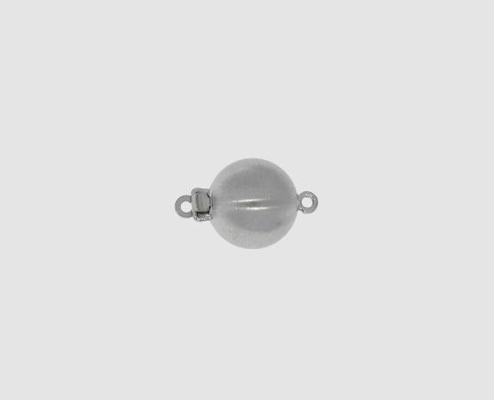 585 Weißgold Kugelschließe poliert