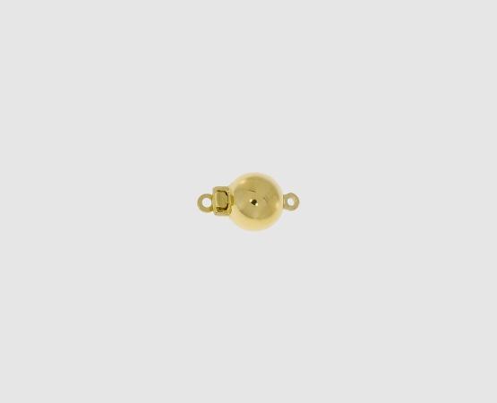 750 Gelbgold Kugelschließe poliert