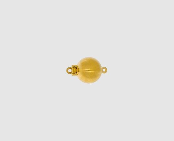 750 Gelbgold Kugelschließe matt