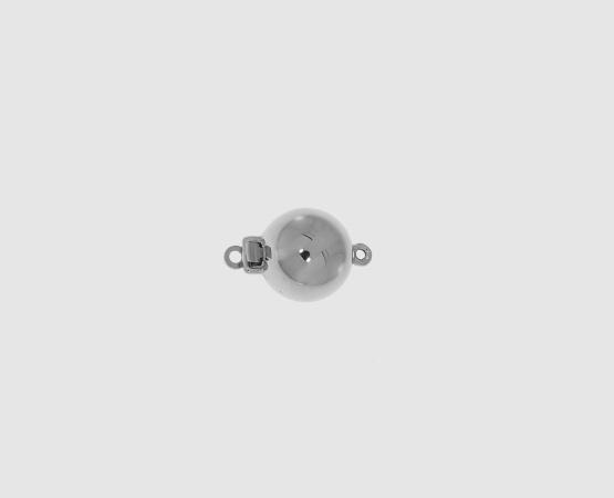 750 Weißgold Kugelschließe poliert