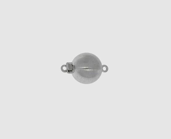 925 Silber Kugelschließe matt